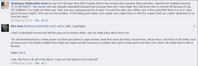 [click to enlarge] Did I say rape apologist? I meant rape enabler. In fact, I might have even meant rapist.